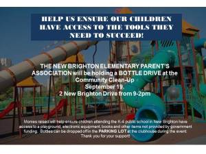 Community Cleanup Bottle Drive 2015 Poster