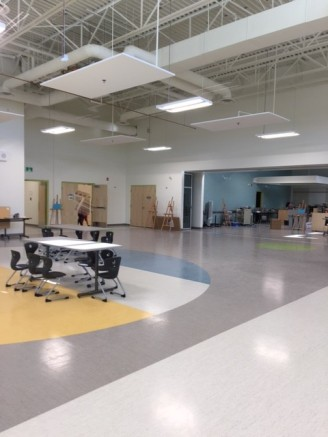 Student Gathering Area in Center of School (will also serve as lunchroom)