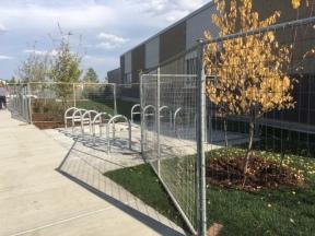 Bike Racks on Side of School