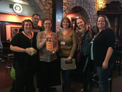 Some of our board members. Left to right, Sarah Stewart (Vice President), Ryan Thompson (Treasurer), Stacey Kotlar (Director), Cathy Eastman (President), Dusty Reimer (Director), Janis Coughlan (Volunteer Coordinator)