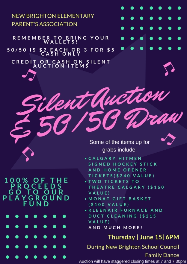 Silent Auction Dance Reminder