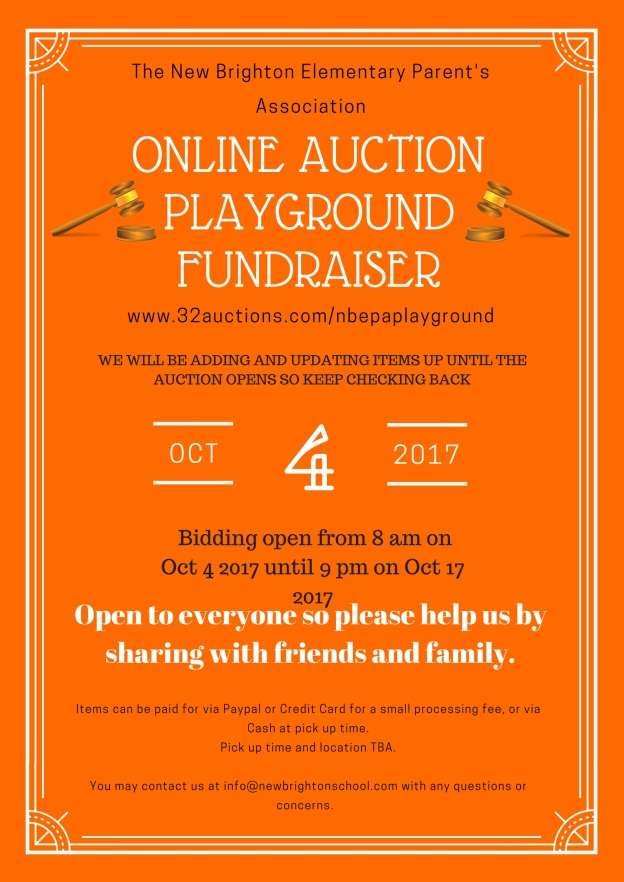 Online Auction Announcement Fall 2017